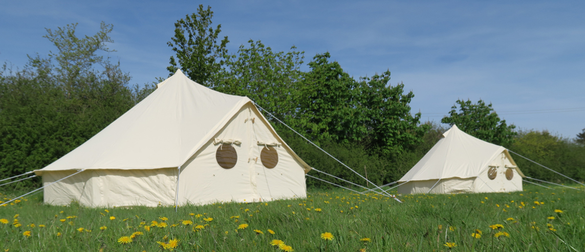 Tent with bunting